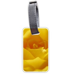 Yellow Rose Luggage Tag (one Side) by Siebenhuehner