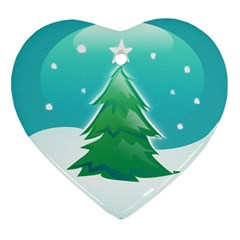 Winter Paradise Heart Ornament by Contest1694379