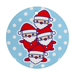 Santa s Round Ornament by Contest1762364