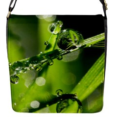 Waterdrops Flap Closure Messenger Bag (small) by Siebenhuehner