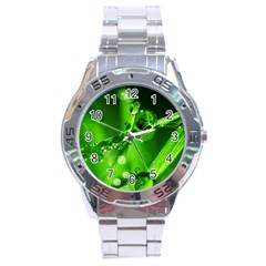 Waterdrops Stainless Steel Watch (men s) by Siebenhuehner