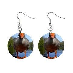 Geese Mini Button Earrings