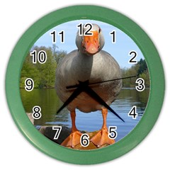 Geese Wall Clock (color)