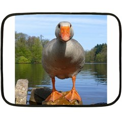 Geese Mini Fleece Blanket (two Sided) by Siebenhuehner