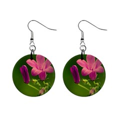 Campanula Close Up Mini Button Earrings by Siebenhuehner