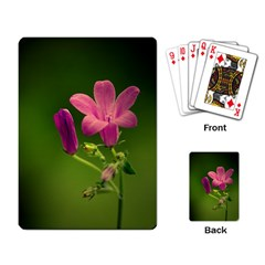 Campanula Close Up Playing Cards Single Design by Siebenhuehner