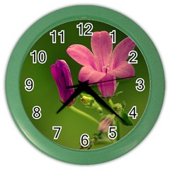 Campanula Close Up Wall Clock (color) by Siebenhuehner