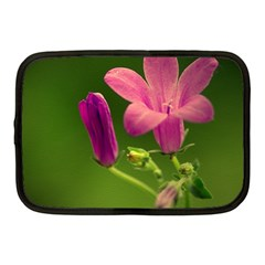 Campanula Close Up Netbook Case (medium) by Siebenhuehner