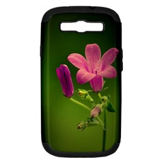 Campanula Close Up Samsung Galaxy S Iii Hardshell Case (pc+silicone) by Siebenhuehner