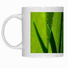 Grass White Coffee Mug by Siebenhuehner
