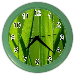Grass Wall Clock (color) by Siebenhuehner