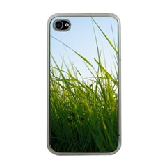 Grass Apple Iphone 4 Case (clear) by Siebenhuehner