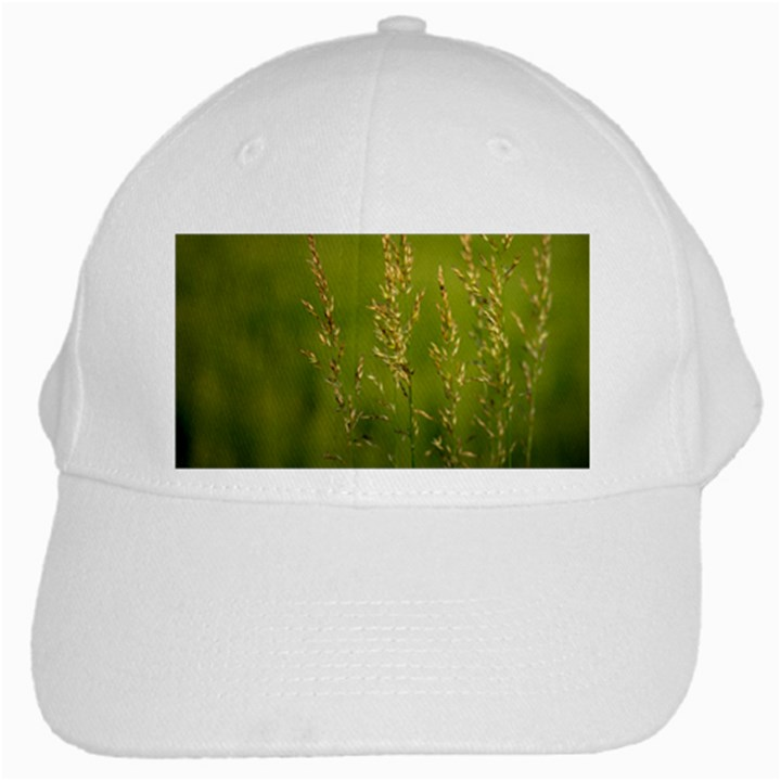 Grass White Baseball Cap