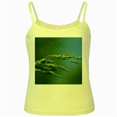 Waterdrops Yellow Spaghetti Tank by Siebenhuehner