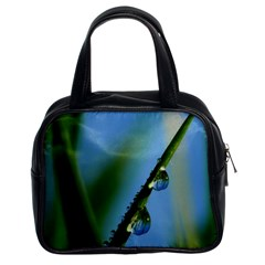 Waterdrops Classic Handbag (two Sides) by Siebenhuehner