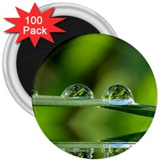 Waterdrops 3  Button Magnet (100 Pack) by Siebenhuehner