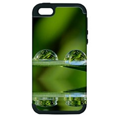 Waterdrops Apple Iphone 5 Hardshell Case (pc+silicone) by Siebenhuehner