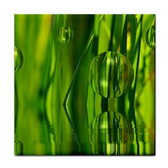 Green Bubbles  Ceramic Tile by Siebenhuehner