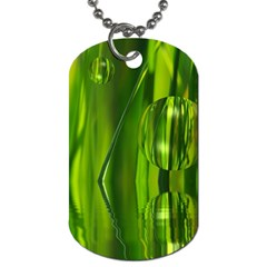 Green Bubbles  Dog Tag (one Sided) by Siebenhuehner