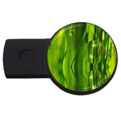 Green Bubbles  2gb Usb Flash Drive (round) by Siebenhuehner