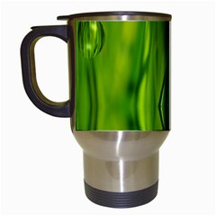 Green Bubbles  Travel Mug (white) by Siebenhuehner