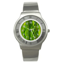 Green Bubbles  Stainless Steel Watch (unisex) by Siebenhuehner