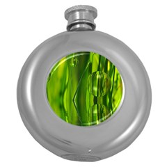 Green Bubbles  Hip Flask (round) by Siebenhuehner