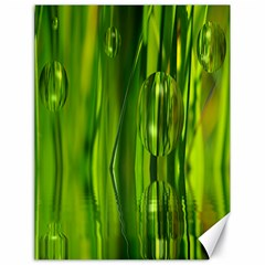 Green Bubbles  Canvas 18  X 24  (unframed) by Siebenhuehner