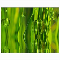 Green Bubbles  Canvas 11  X 14  (unframed) by Siebenhuehner