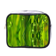 Green Bubbles  Mini Travel Toiletry Bag (one Side) by Siebenhuehner