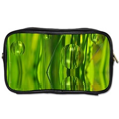Green Bubbles  Travel Toiletry Bag (two Sides) by Siebenhuehner