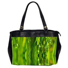 Green Bubbles  Oversize Office Handbag (two Sides) by Siebenhuehner