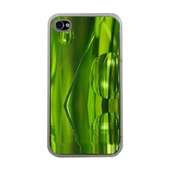 Green Bubbles  Apple Iphone 4 Case (clear) by Siebenhuehner