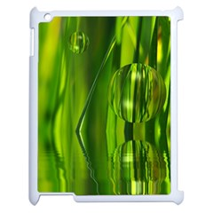 Green Bubbles  Apple Ipad 2 Case (white) by Siebenhuehner