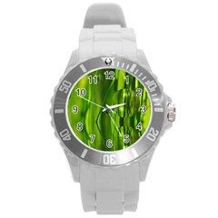Green Bubbles  Plastic Sport Watch (large) by Siebenhuehner