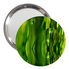 Green Bubbles  3  Handbag Mirror by Siebenhuehner