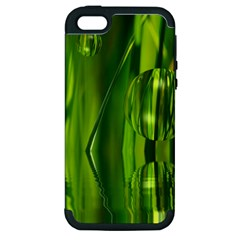 Green Bubbles  Apple Iphone 5 Hardshell Case (pc+silicone) by Siebenhuehner