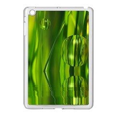 Green Bubbles  Apple Ipad Mini Case (white) by Siebenhuehner