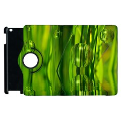 Green Bubbles  Apple Ipad 3/4 Flip 360 Case by Siebenhuehner
