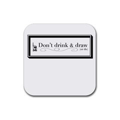 Dont Drink And Draw Drink Coasters 4 Pack (square)