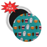 Time for coffee 2.25  Button Magnet (10 pack) Front