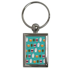Time For Coffee Key Chain (rectangle) by PaolAllen