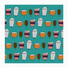 Time For Coffee Glasses Cloth (medium) by PaolAllen