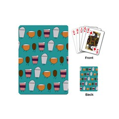 Time For Coffee Playing Cards (mini) by PaolAllen