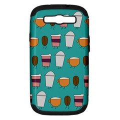 Time For Coffee Samsung Galaxy S Iii Hardshell Case (pc+silicone) by PaolAllen