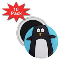 Hello Penguin 1 75  Button Magnet (10 Pack) by PaolAllen