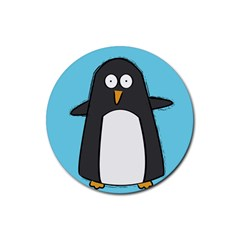 Hello Penguin Drink Coasters 4 Pack (round)