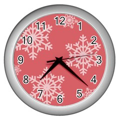 Let It Snow Wall Clock (silver)