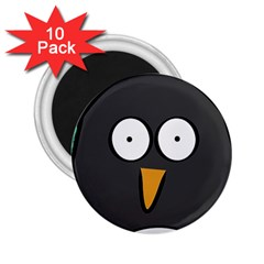Penguin Close Up 2 25  Button Magnet (10 Pack)