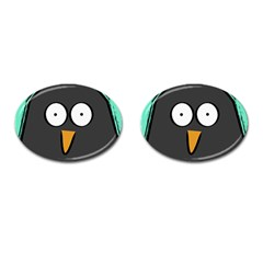 Penguin Close Up Cufflinks (oval) by PaolAllen